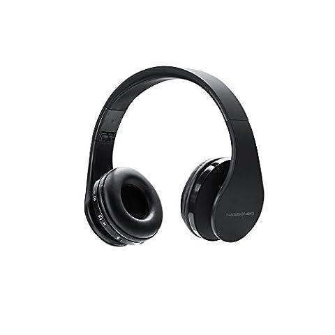 Casque stéréo sans fil, yoohog Casque Bluetooth avec microphone pour