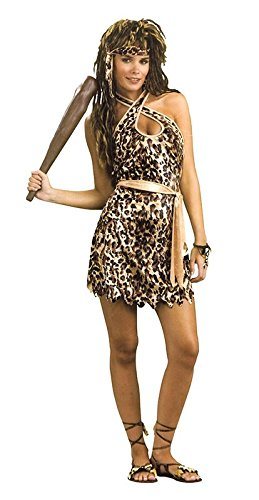 Damen Cavewoman Fancy Kleid Kostüm Outfit Cosplay Rolle Play Halloween Party – One (Kostüm Cavewoman Halloween)