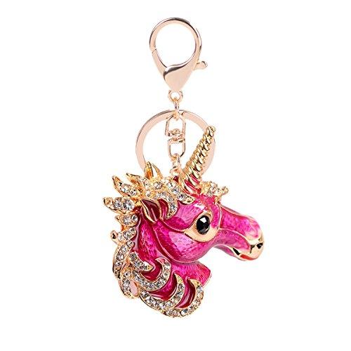 Besttimes Cute Girl Keychain Kristall Schlüsselanhänger Tasche Dekoration Geschenk für Frauen (Pink)