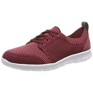 Clarks Damen Step AllenaSun Sneaker, Rot Maroon, 41 EU