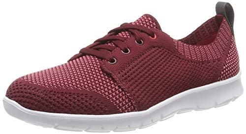 Clarks Damen Step AllenaSun Sneaker, Rot (Maroon), 39.5 EU (Canvas Schuhe Clarks Damen)