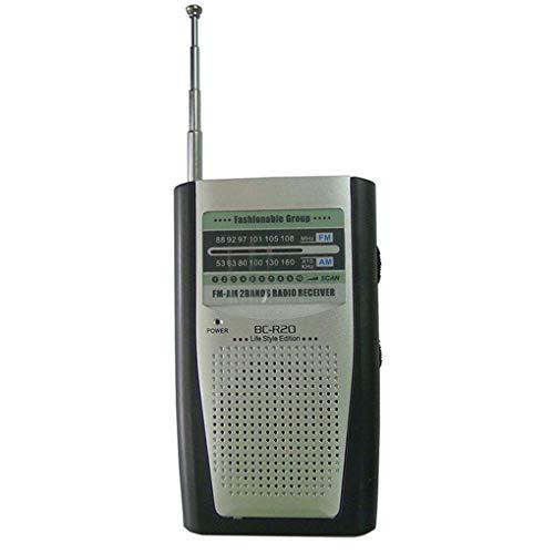 20 Multifunktions-Radio-Minitasche Tragbarer AM FM Radio-Empfänger Lautsprecher Music Player ()