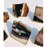 Juego de 6 tiradores de color rosa de /ágata con acabado cl/ásico vintage para armario manija decorativa interior caj/ón vestidor