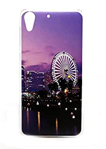 Sharp Icon Printed with Diamond Stone Back Cover for HTC Desire 728