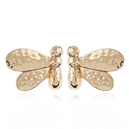QIYUEQI Ms Ohr Nagel Ohrringe Schmuck Bee Legierung kreative Ohrringe Modeschmuck Ohrringe ohr