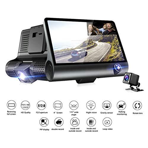 Touchscreen 1080P Dashcam mit GPS, 170° Weitwinkelobjektiv, mit eingebautem Funksender, Wireless Einparkhilfe,Wasserdicht IP68-Backup-AutoKamera