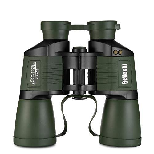 Mini Pocket Folding 20x50 Hochleistungsfernrohr Bird Wildlife Hunting Mit Optischer Objektiv-Tragetasche (Color : Army Green)