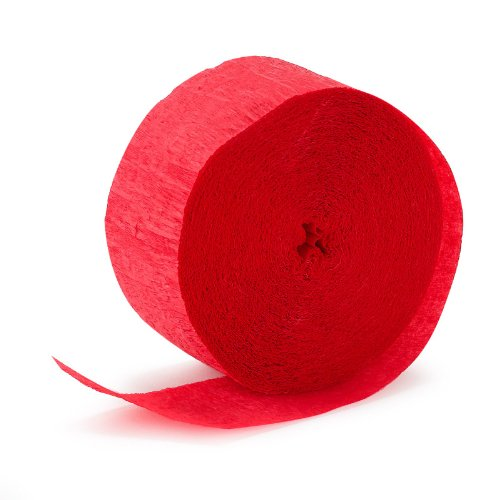 Red Crepe Streamer - 81' by Mayflower Products