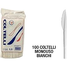COLTELLO PLASTICA SET 100 PZ. BIANCO