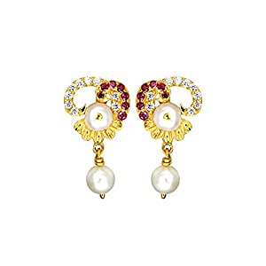 Sree Kumaran Thangamaligai 22k Yellow Gold Stud Earrings