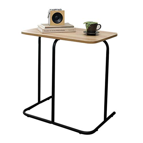 Tisch-Nachttisch-Sofa-Tisch-fauler Tisch-Laptop-Tisch-Bett-Platzierungs-Schreibtisch-Zuhause-Kleiner Tisch Brown (Color : Brown, Size : 60 * 40 * 60.5CM) -