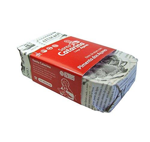 Preisvergleich Produktbild Thunfischfilet mit Paprika aus den Azoren in Olivenöl 120 g,  Portugal,  Santa Catarina