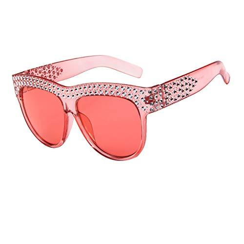 Dorical Sonnenbrille Unisex/Damen Herren Mode Runde mit Niet Aviator Vintage Brille PC gestell Brillenfassung Hochwertige Sport Glasses Brille Valentinstag Brille für Männer Frauen Sale