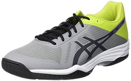 ASICS Herren Gel-Tactic Volleyballschuhe, Silber (Aluminum/Dark Grey/Energy Green), 49 EU -