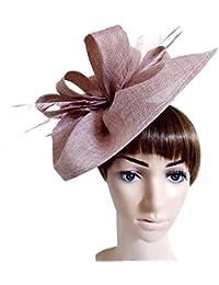 WYDM Clip di Cappello da Donna in Piuma su Accessori per Capelli da Festa per  Cocktail 70d68e942ad1