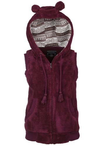 Sublevel Teddy Fleece Vest Dark Purple