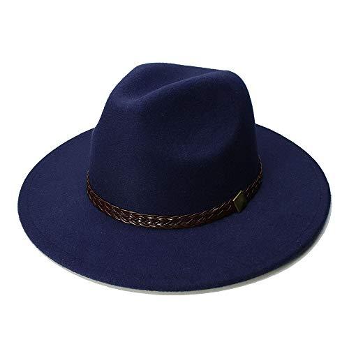 Peng-Hat Frauen Wolle Jazz Hüte Große Krempe