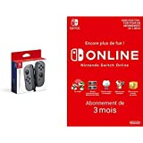 Nintendo Switch Paire de manettes Joy-Con gauche/droite : gris + Switch Online 3 Mois [Download Code]