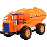 Lukas Baby Toy Tanker Truck Toy, Toy For Kids, Push And Go Toy For Kids, Orange Color