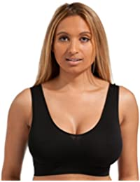 58add2f3289e8 Marielle 4 Pack Bra® Genuine - Ultimate Premium Wire Free Seamless Womens  Crop Top Sleep