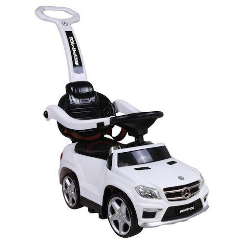 Sweety Toys 8155 Mercedes GL 63 AMG Lauflernfahrzeug Rutschauto Kinderauto Auto Spielzeugauto Kinderfahrzeug mit MP3 PORT-verschiedenen Sound und Lichteffekten- Akku - weiss