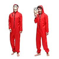 Unisex Dali Mask Red Costume for Dali Money Heist The Paper House La Casa De Papel Costume Hoodie Jumpsuit with Mask (XL)