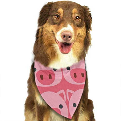 Dog Bandana Cute Pig Face Pink Pet Scarf Triangle Bibs Kerchief Set Pet Costume Accessories Decoration for Small Medium Large Dogs Cats Pets