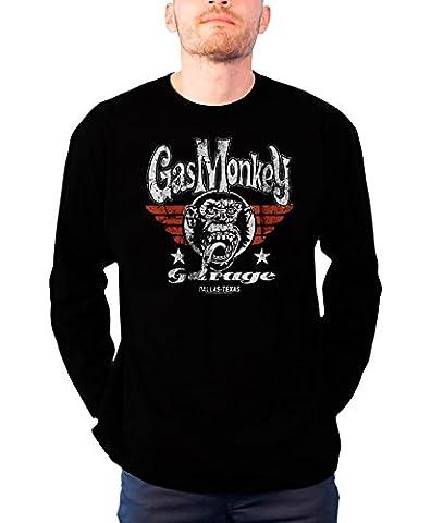 Gas Monkey Garage Long Sleeve T Shirt Flying High Official