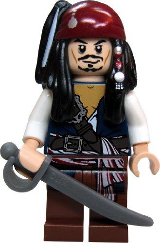 Lego® - Figura de Jack Sparrow de Piratas del Caribe (incluye sable y cáliz dorado)