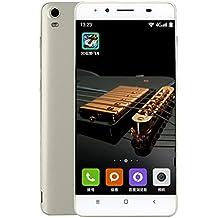 Smartphone moviles libres Teléfonos Móviles Libres de SIM Baratos, 5.0 Pantalla HD, Android 4.4, Octa-Core 4G+2G 4G/GSM, Cámara trasera 3.0MP con flash LED, cámara frontal 0.3MP - Plata