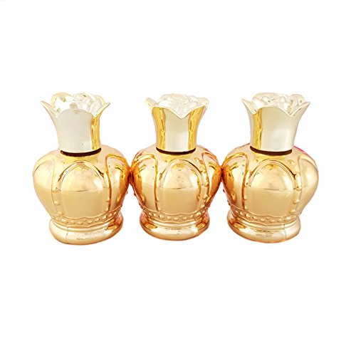 3 Pcs 30 ml vide en verre Bouteille d'huile essentielle bouteilles de parfum tatouages avec orifice Réducteur et bouchon Grande rose pour Voyager et Home