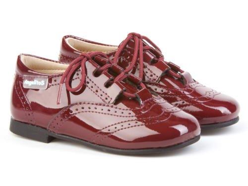 ANGELITOS , Chaussures de ville à lacets pour garçon Rouge bordeaux