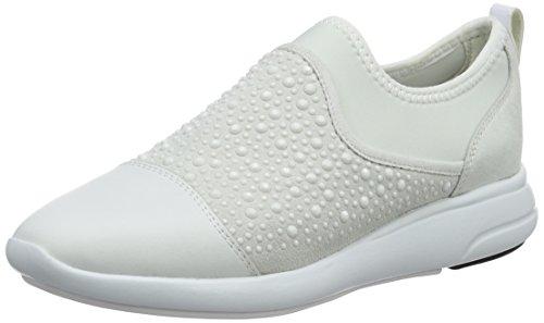 Geox d ophira b, scarpe da ginnastica basse donna, bianco (off white/whitec1209), 37 eu