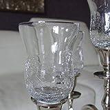 Dekowelten GLASAUFSATZ Glas für Kerzenleuchter Kerzenständer Crackle f. Teelicht Windlicht