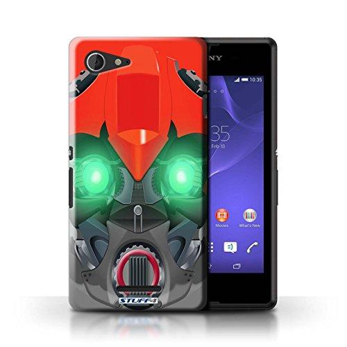 Kobalt® Imprimé Etui / Coque pour Sony Xperia E3 / Bumble-Bot Rouge conception / Série Robots Bumble-Bot Rouge