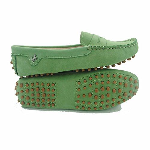Minitoo , Damen Mokassins, - Leather-Algae Green - Größe: 37