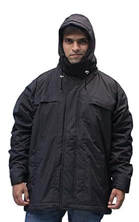 Romano Men's Water Wind Snow Resistant Black Jacket