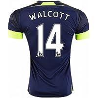 20162017Arsenal 14Theo Walcott il terzo Away Calcio in Jersey blu navy per nuova stagione, Uomo, Navy, XL