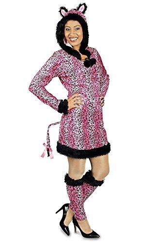 Panther Pink Damen Kostüm (Leoparden Kostüm Pink für Damen Gr. 40)