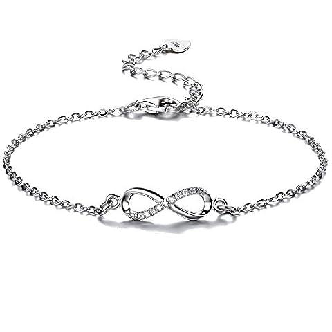 F.ZENI Bracelet Femmes Argent sterling 925 Brillant Zircone Cubique Bracelet