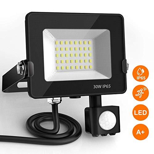 Focos LED con Sensor de Movimiento, BEIEN 30W 2400LM Foco Exterior LED,...