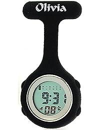 Olivia Kollektion schwarze digitale Multifunktion Krankenschwester Uhr TOC77