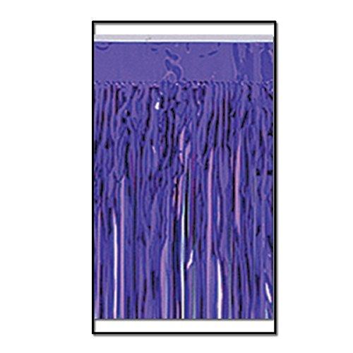 Gardinendekoration, 2-lagig, metallisch, 3 m, Violett, 6 Stück
