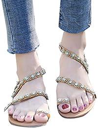 Sandalias Mujer Verano Tacon Alto Fiesta Plataforma Chanclas de Vestir Costura Roma Estilo Casual Abierto Dedo del pie…