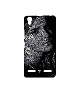 Vogueshell Typography Printed Symmetry PRO Series Hard Back Case for Lenovo A6000 Plus