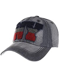 WITHMOONS Gorras de béisbol Gorra de Trucker Sombrero de Vintage Denim NY Baseball Cap Distressed Trucker