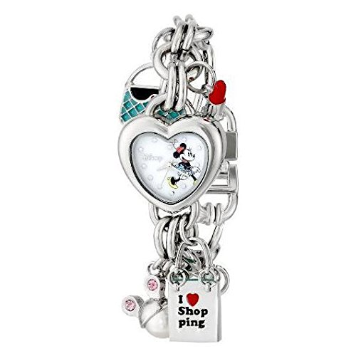 Disney Women's MN2010 Minnie Mouse Mother-of-Pearl Dial Charm Watch (Watch Of Mother Pearl)