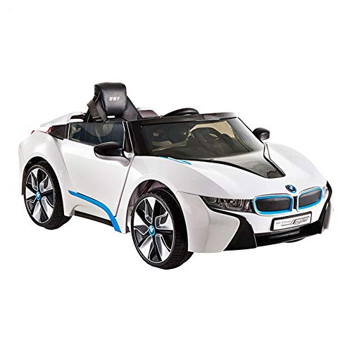 Aiya Kids Electric Ride On Toy Car BMW Autorisierung für Forward Speed Change White Electric Road Car Sportwagen