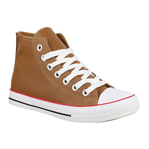 Elara Unisex Sneaker | Damen Herren | High Top | Chunkyrayan FC8617 Khaki-39