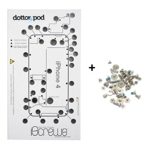 BisLinks iScrews schraubenaufbewahrungsset für Apple iPhone 4+ Vollständiges - Mat Iphone Schraube 4